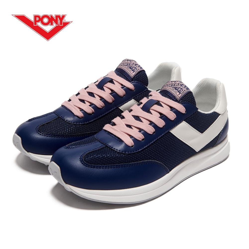 【PONY】Montreal 系列-經典運動復古鞋-女性-深藍