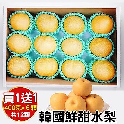 買1送1-天天果園-韓國甜潤XL水梨禮盒-6顆-每