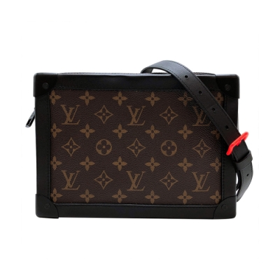 Louis Vuitton 展示品 Soft Trunk 帆布印花拉鍊斜背方包(M44478-咖)