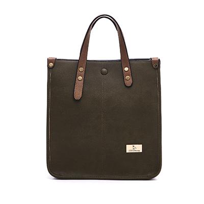 B.S.D.S冰山袋鼠-薔棘女爵x復古皮革質感兩用手提包-黛綠色