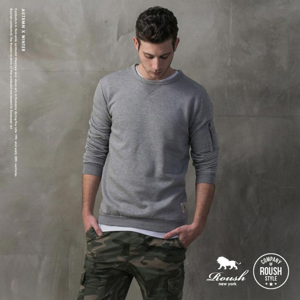 ROUSH MA-1口袋織帶設計刷毛大學TEE (6色)