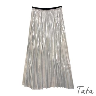燙銀不收邊百褶裙 TATA-(S~L)