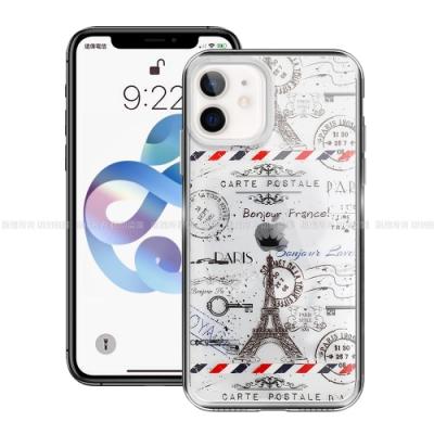 MOOTUN for  iPhone 12 mini 5.4吋 防護晶透保護殼 - 鐵塔郵戳