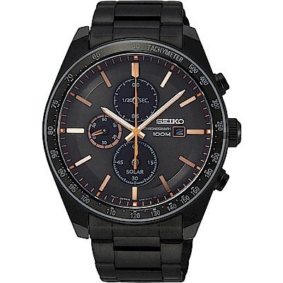 SEIKO 精工 Criteria 太陽能台灣獨賣計時碼錶(SSC733P1)