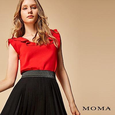 MOMA 針織荷葉領上衣