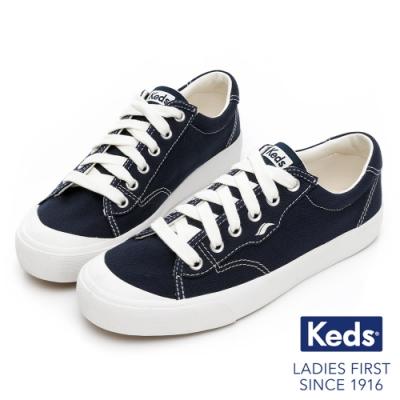 Keds CREW KICK 75 經典半月有機棉休閒鞋-海軍藍