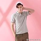 GIORDANO 男裝企鵝刺繡彈力萊卡POLO衫-03 中花灰