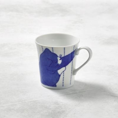 日本澤藍美濃燒 黑貓君馬克杯 -310 ml