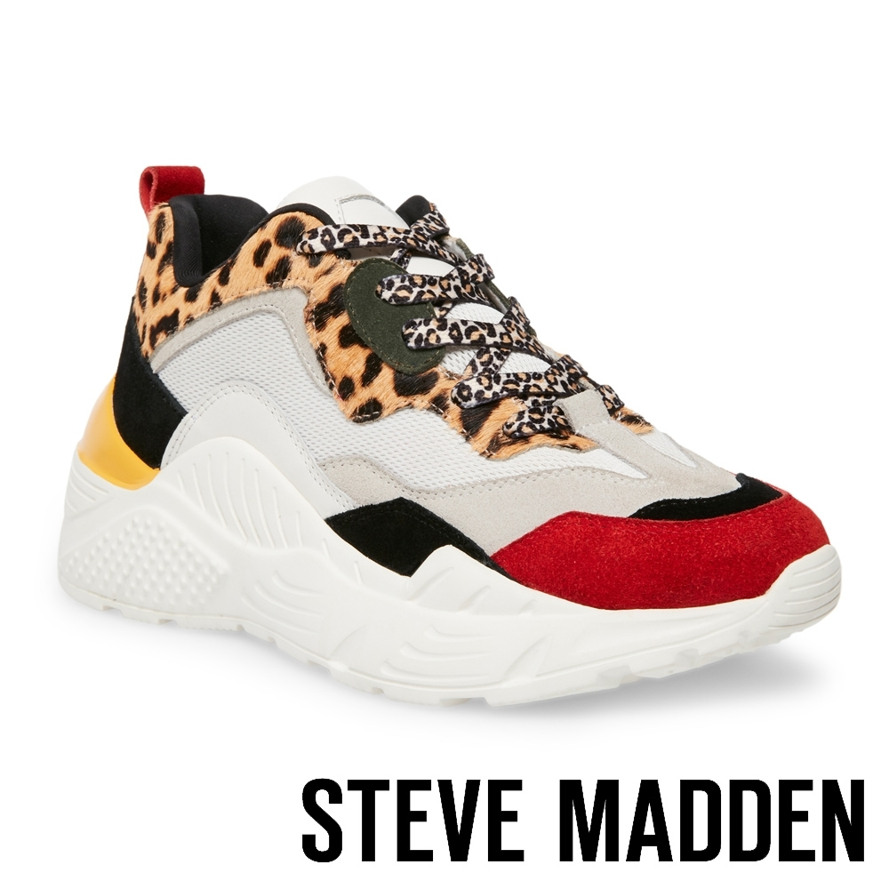 STEVE MADDEN-ANTONIA 潮流前鋒時尚老爹鞋-豹紋