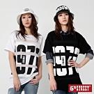 [時時樂限定] 5th STREET 個性拼接雪紡造型T恤-女款 (2色)