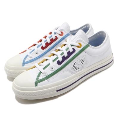 Converse 休閒鞋 All Star 低筒 穿搭 男女鞋 基本款 簡約 情侶款 皮革 質感 白 彩 167141C