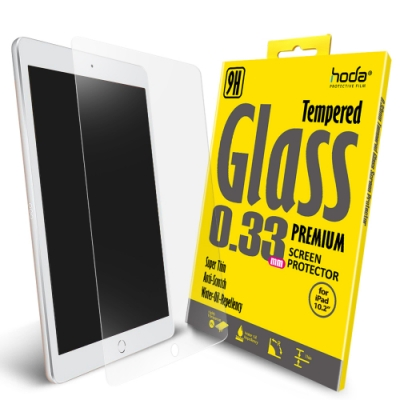 hoda iPad 10.2吋(2019) 全透明高透光滿版9H鋼化玻璃保護貼
