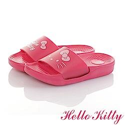 HelloKitty親子鞋童鞋 不對稱室內外拖鞋-桃