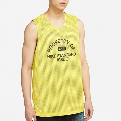 NIKE 耐吉 背心 籃球衣 雙面穿 慢跑 運動 男款 黃黑 DA3029-731 Standard Issue