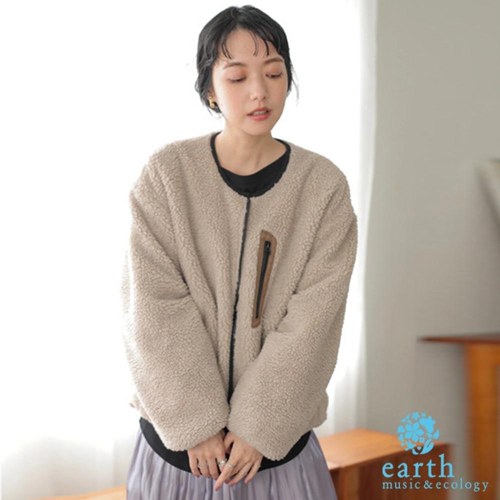 earth music 2WAY異素材正反兩穿夾克外套