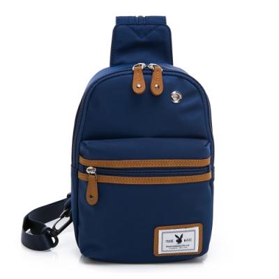 PLAYBOY-  單肩背包可後揹 就是青春系列 -藍色