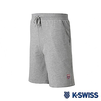 K-SWISS Vintage Logo Swearshorts棉質短褲-男-灰