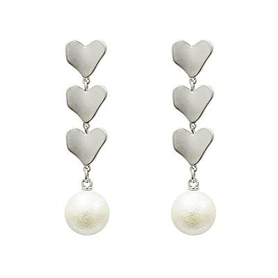 Prisme 美國時尚飾品  心連心 銀色耳環