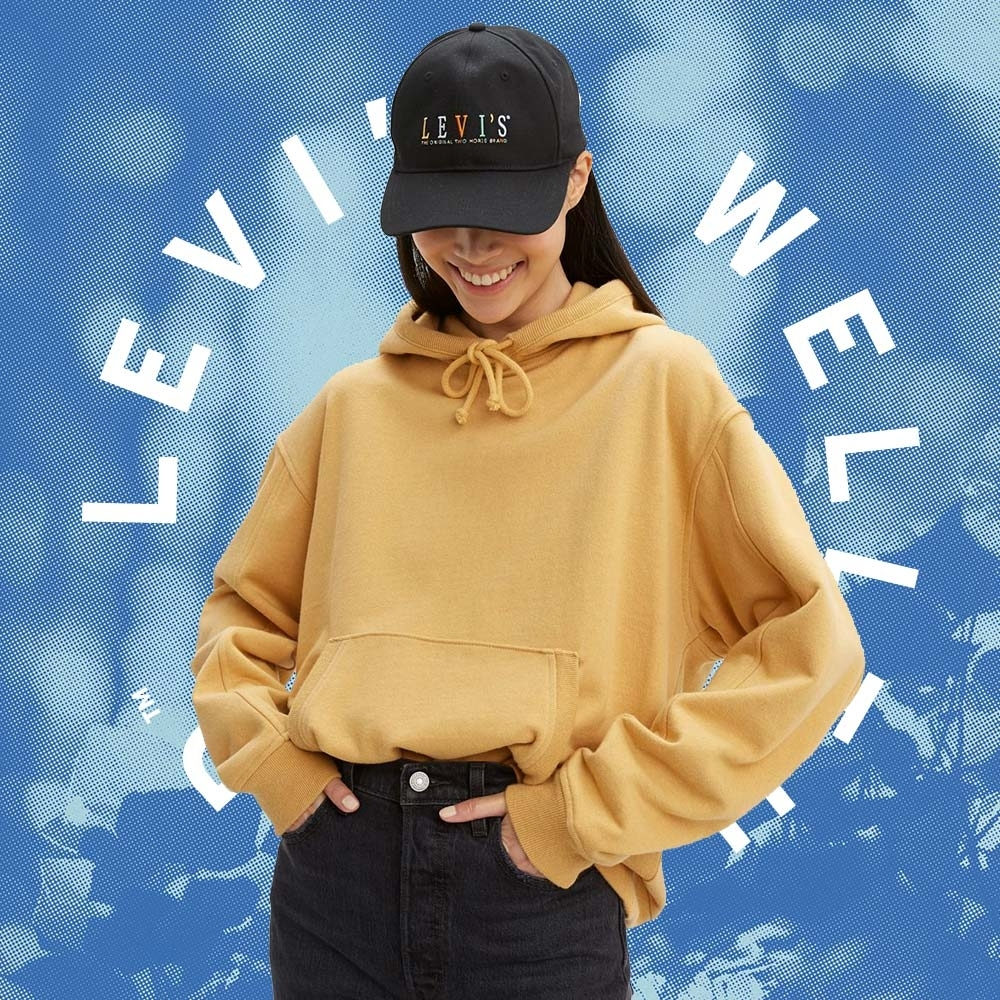 Levis Wellthread環境友善系列 女款口袋帽T棉麻混紡工法 低加工保留布料原始質感
