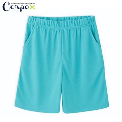 CorpoX 男款強悍吸排mesh網眼運動褲-湖綠