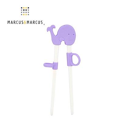【MARCUS&MARCUS】動物樂園幼兒學習筷-鯨魚(紫)
