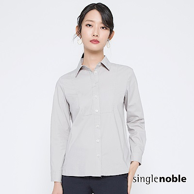 獨身貴族 知性年代方形拼接純色襯衫(2色) @ Y!購物