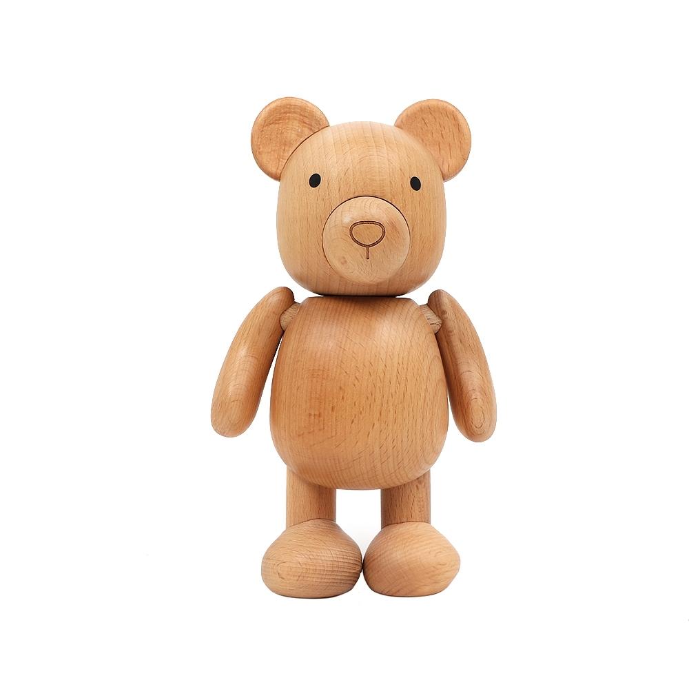 agnes b. b.Barista木頭磁鐵小熊公仔