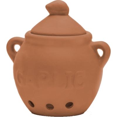 《FOXRUN》雙柄大蒜陶製收納罐