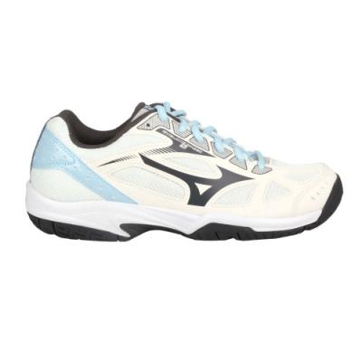 MIZUNO CYCLONE SPEED 2女排球鞋-訓練 運動 低筒 美津濃 V1GC198018 米白灰水藍