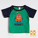【LOVEDO-艾唯多童裝】笑臉機器人 拼布短袖T恤 (綠)