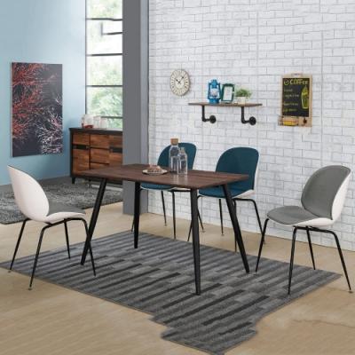MUNA 貝尼托4尺餐桌(1桌4椅)(藍色餐椅) 120X70X76cm