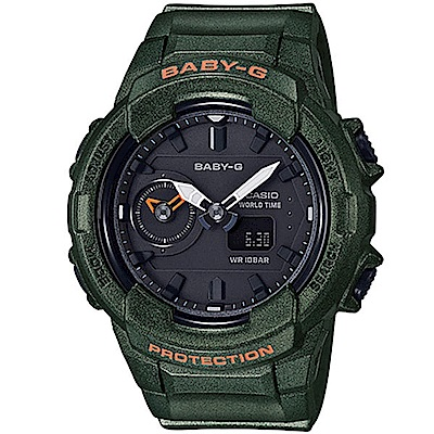 BABY-G秋冬街頭時尚風珠光效果設計休閒錶(BGA-230S-3)墨綠42.9mm