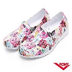 【PONY】TROPIC 輕量舒適GOGO鞋 涼鞋 拖鞋-中性-粉花