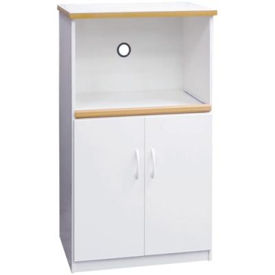 文創集 森活環保白2.2尺塑鋼二門單格高餐櫃/收納櫃-66x43x112cm免組