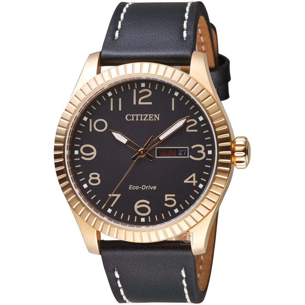 CITIZEN 星辰GET S復古時尚光動能限量腕錶(BM8533-13E)-玫瑰金色