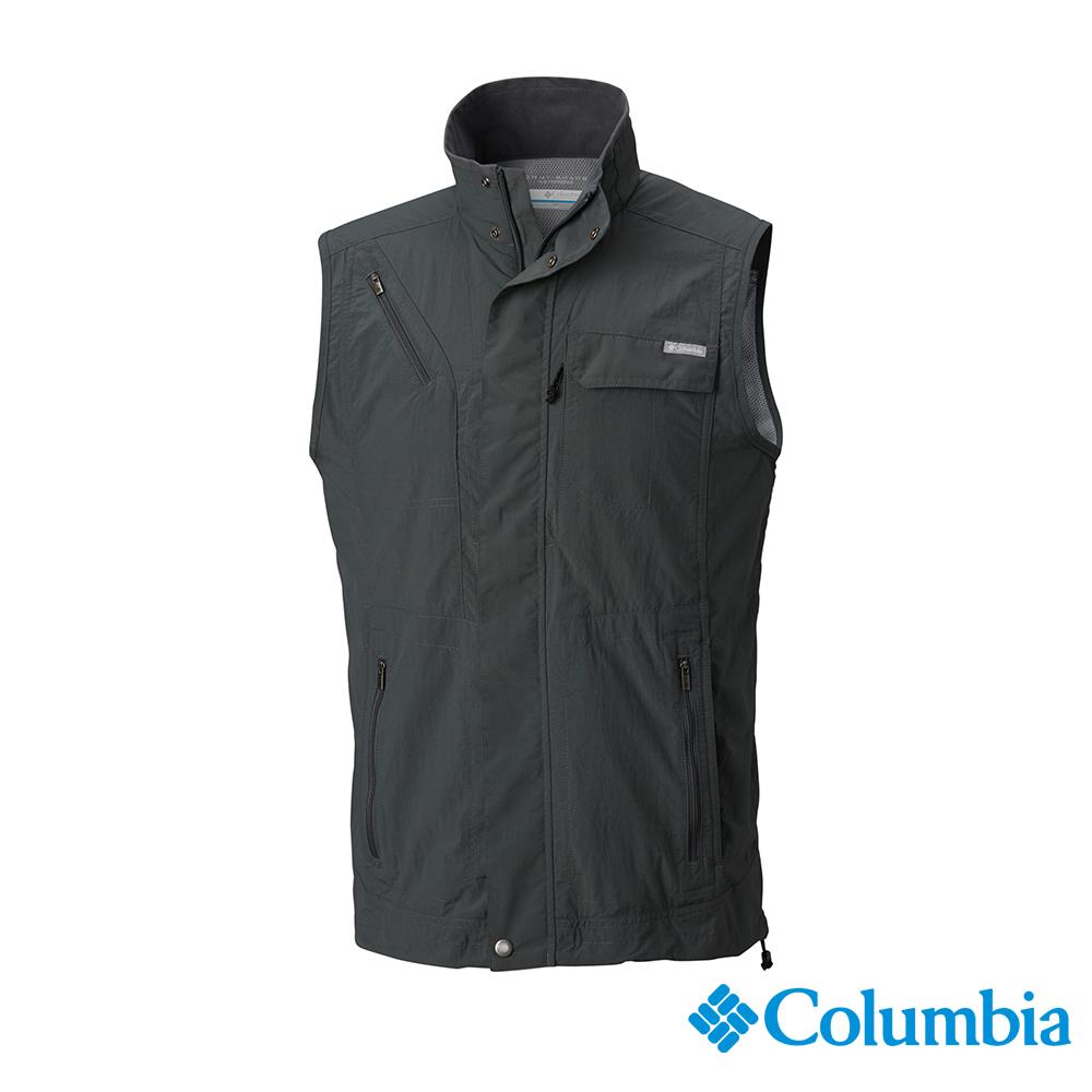 Columbia 哥倫比亞 男款-UPF50快排背心-深灰 UAE01730DY