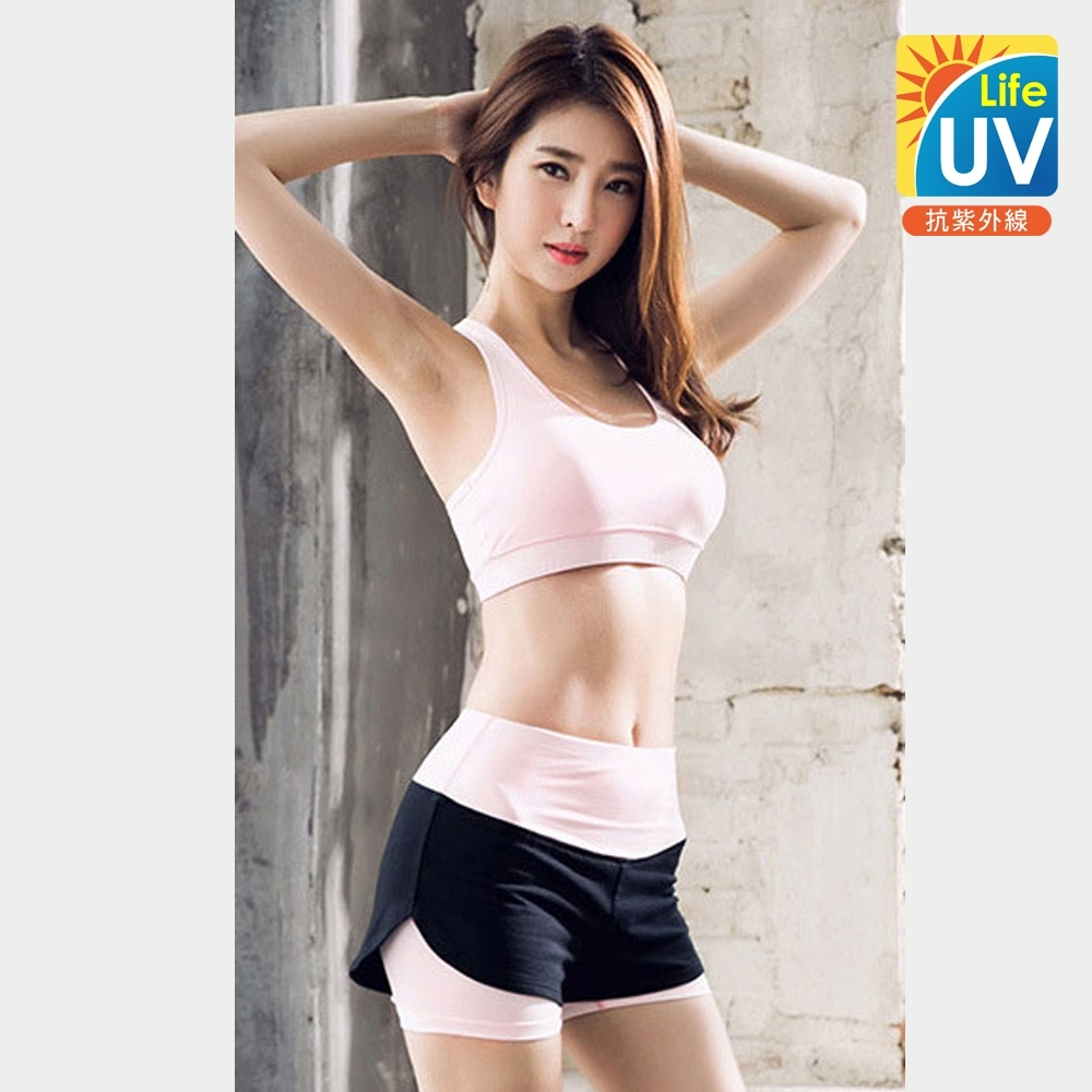 UV-Life韓系高端機能運動瑜珈上衣(S-XL)