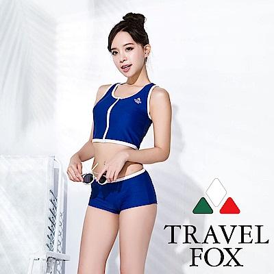 TRAVEL FOX 大女短版二件式泳裝