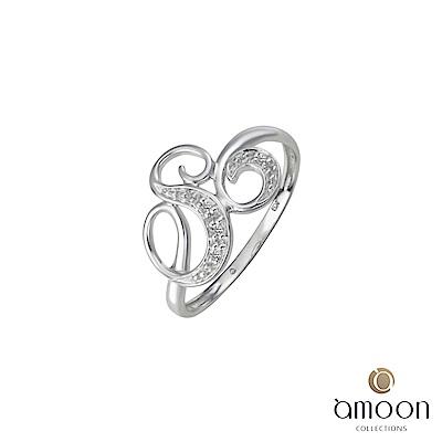 amoon 浪漫艾菲爾系列 萌芽 K金鑽石戒指