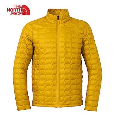 The North Face北面男款黃色防潑水保暖外套|3L8CVB6