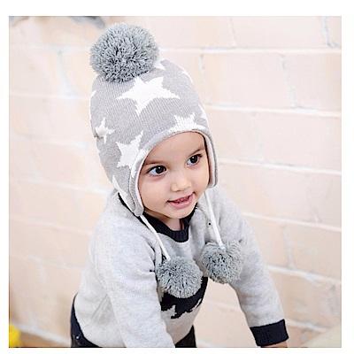 (kidwowo)歐美時尚星星保暖童帽