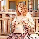 KINAZ 楓葉書籤兩用斜背包-玫瑰粉-綠色莊園系列