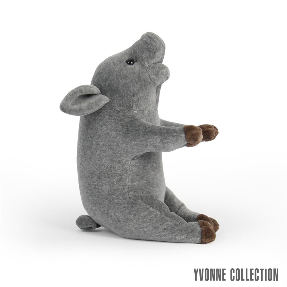 Yvonne Collection 豬豬造型小玩偶- 暗灰