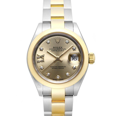ROLEX 勞力士Datejust 279163 蠔式日誌半金XI刻度鑽金面腕表x28mm