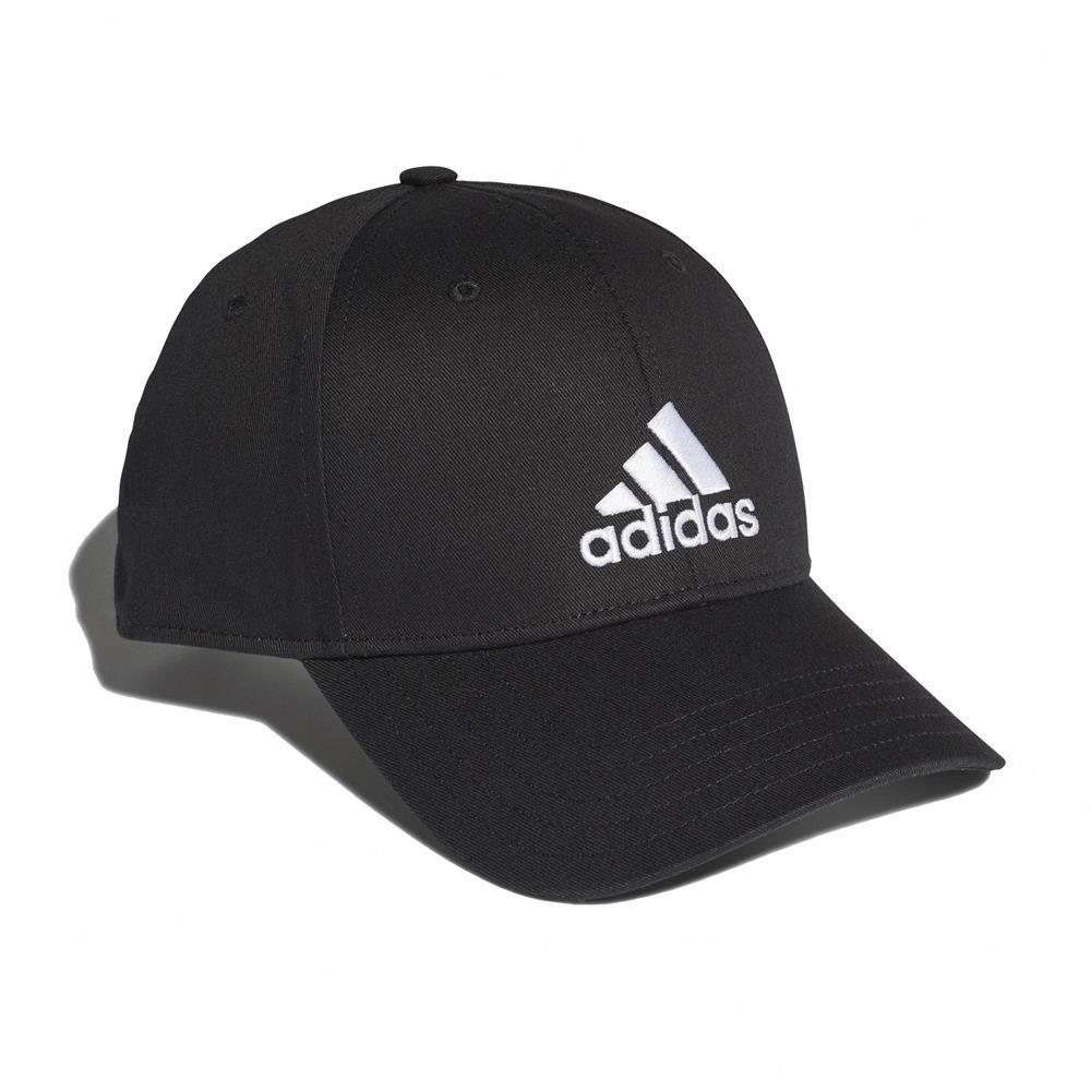 adidas 帽子 Baseball Cap 運動休閒 男女款 愛迪達 棒球帽 遮陽 基本 帽圍可調 黑 白 FK0891