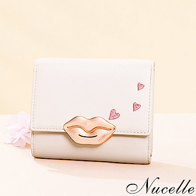 NUCELLE KISS愛心蜜唇女王短夾 優雅粉