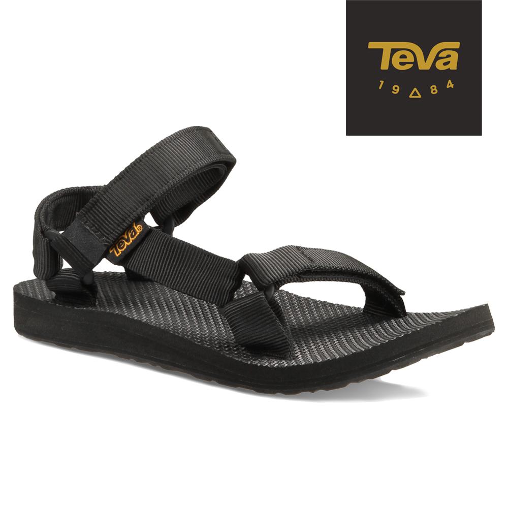 TEVA 美國-女 Original Universal 緹花織帶涼鞋 (黑)