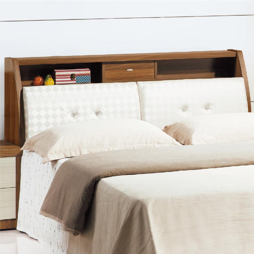 文創集 瓦娜5尺皮革雙人床頭箱(二色可選+不含床底)-152x30x102cm免組