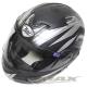 THH新一代駭客全罩半罩可掀式雙鏡片安全帽 T797A+-黑銀XL product thumbnail 1