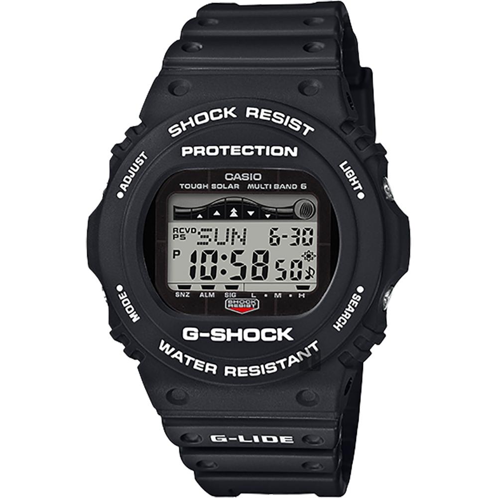 CASIO 卡西歐 G-SHOCK 太陽能電波衝浪手錶-酷黑(GWX-5700CS-1)